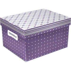 CAIXAS ORGANIZADORAS DECORADAS THE BEST BOX HONEY M LILAS